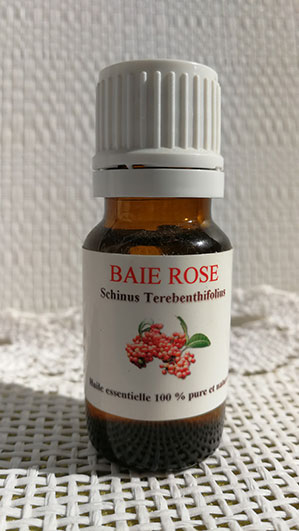 huile essentielle baie rose
